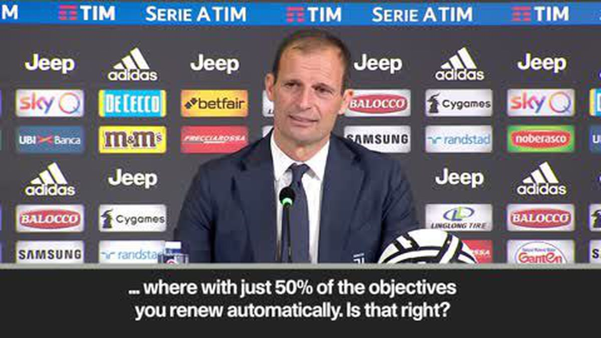Watch Allegri on automatic renewal clause – 'False like Monopoly's