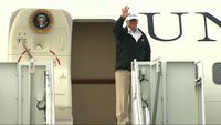 - Trump lands in Texas, heading for southern border