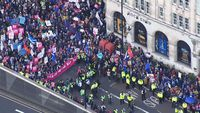 - Anti-Brexit protesters converge on London