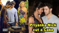 Priyanka-Nick cut a Cake with Priyankas Vogue US Cover