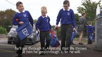 - Boy with rare condition starts first day in primary school