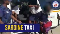 WATCH: 45 children tumble out of packed Nelson Mandela Bay taxi