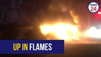 WATCH: 7 trucks set alight on N3 by unknown suspects