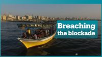 - Gazans seek to breach Israeli sea blockade
