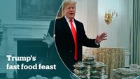 - Trump serves fast food amid staff shortage in the White House