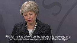 Theresa May: Syria and Russia must be held to account on chemical weapons attack