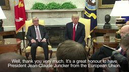 Trump meets Juncker - 'If we could have no tariffs the US would be extremely pleased'