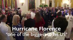 Trump: Hurricane Florence one of the biggest to hit the US