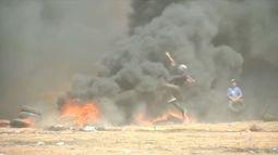 Protesters wounded on Gaza border