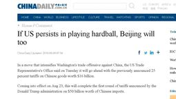'Mobster mentality': China's state media calls out U.S.