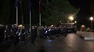 RAW: Crowds gathered to mark Adelaide Dawn Service