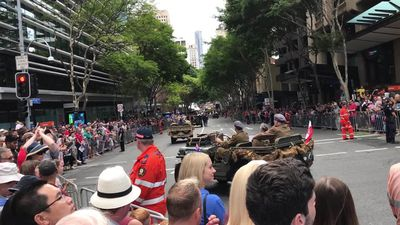 RAW: Anzac Day march in Brisbane now includes families