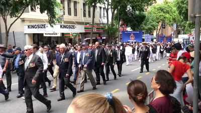 RAW: Veterans, families in Brisbane Anzac Day march