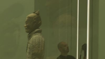 10,000 porcelain starlings guide visitors through NGV's Terracotta Warriors exhibition