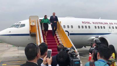 RAW: Scott Morrison arrives in Vietnam