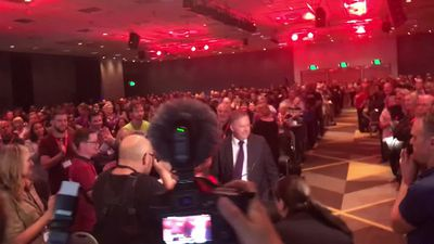 RAW: Albanese arriving at WA Labor conference
