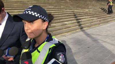Cops speak after man threatens self-harm at Vic parliament