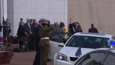 RAW: PM of Fiji Bainimarama welcomed by Morrison for signing of partnership