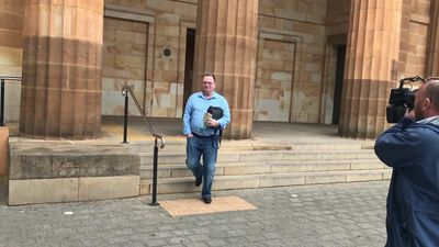 RAW: Michael King leaves Adelaide Magistrates Court