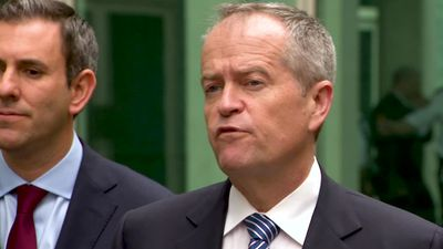 Shorten says NDIS under-spend is making budget look good