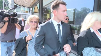 RAW: Rugby league players arrive at Sydney court over indecent assault charges