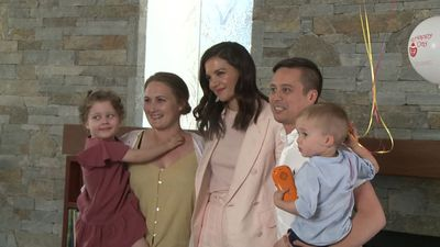Katie Holmes visits Ronald McDonald House in Westmead