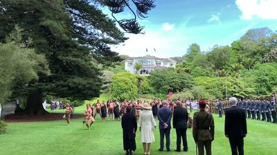 RAW: Prince Charles and Duchess Camilla officially welcomed in New Zealand