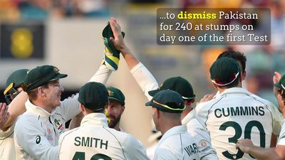 Aussies roll Pakistan for 240 at the Gabba