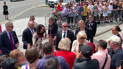 RAW: NZ PM bumps into the Duchess of Cornwall during public walk