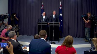 Cormann says the economy, wages and employment are growing as budget heads towards surplus