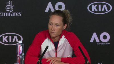 Sam Stosur talks about her disappointment at failing again to advance through the Australian Open