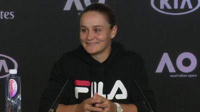 Ash Barty discusses the chaotic nature of grand slam tennis after her round one win