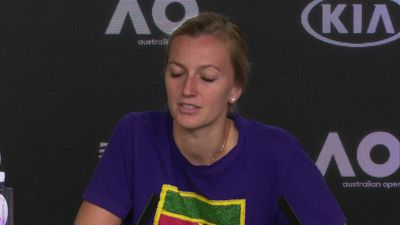 Petra Kvitova disappointed to be out of the Aus Open but optimistic about her strong start to the ye