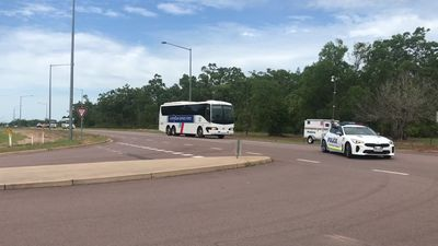 RAW: Evacuees from coronavirus-hit cruise ship arrive at Howard Springs