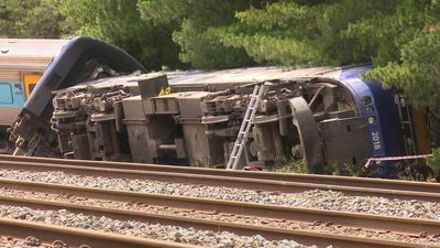 Wallan train derailment - transport accident investigators inspect the train crash that killed two