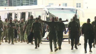Fijian troops proud to be able to help bushfire ravaged regions of Victoria as they head home
