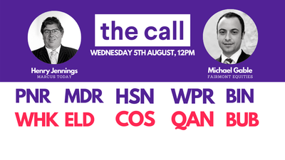 The Call: Wednesday 5 August