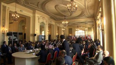 Roundtable with heads of delegations at Libya conference