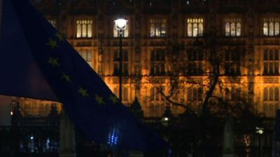 Anti-Brexit protest outside UK's Parliament