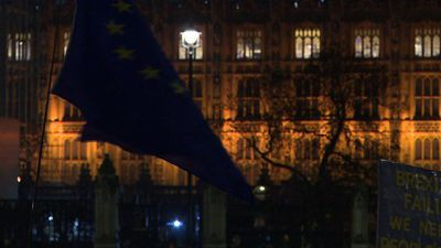 Liberal Democrats protest against Brexit on Parliament Square