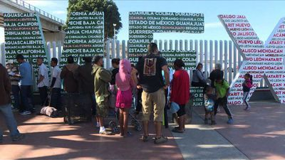Number of Central American migrants in Tijuana grows