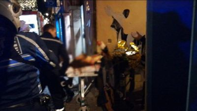 Strasbourg: images of injured person shortly after shots fired