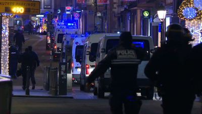 Police on site in Strasbourg after Christmas market shooting