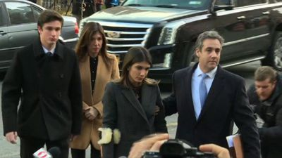 Trump's ex-lawyer Cohen arriving at court ahead of sentencing