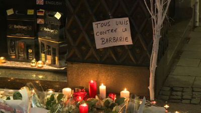 Tributes placed at scene of Strasbourg Christmas market attack