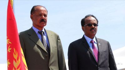 Eritrean president arrives in Mogadishu to meet Somali leader