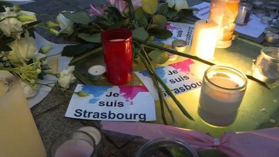 People pay their respects to Strasbourg victims