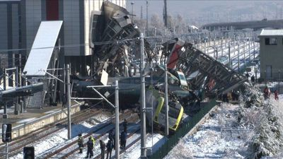 Ankara train crash leaves at least nine dead