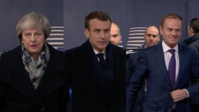EU leaders arrive for summit in Brussels