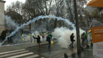 """Yellow vests"" protest in Nantes"